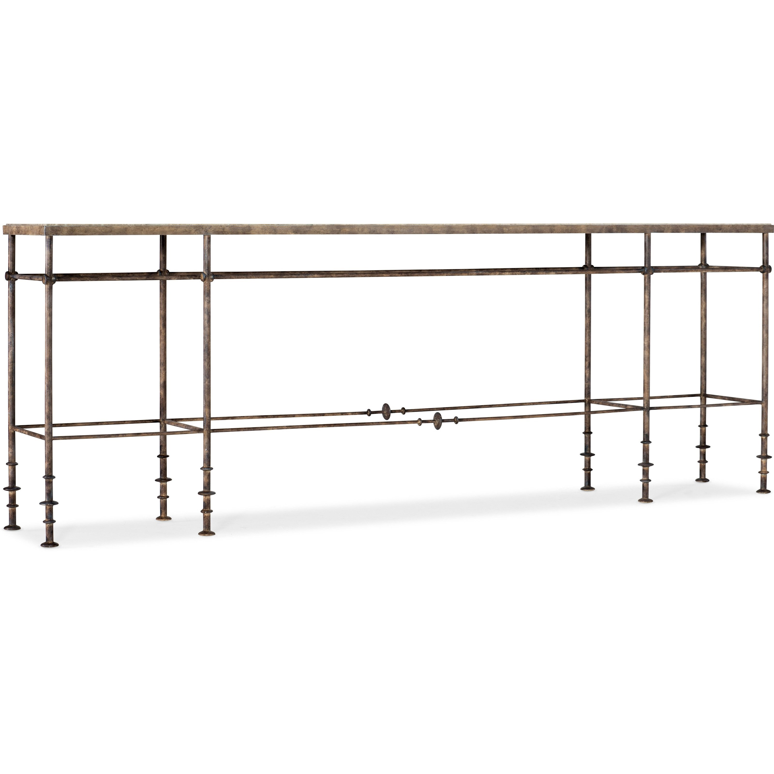 La Grange St James Metal and Stone Console by Hooker Furniture at Suburban Furniture