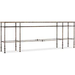 St James Metal and Stone Console