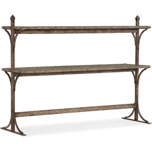 Transitional South 77 Metal and Wood Console