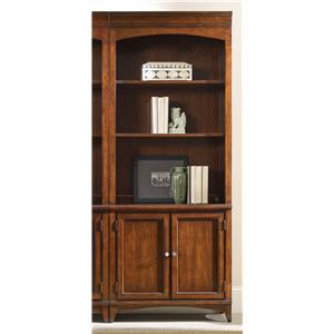 Walnut Transitional Bunching Bookcase
