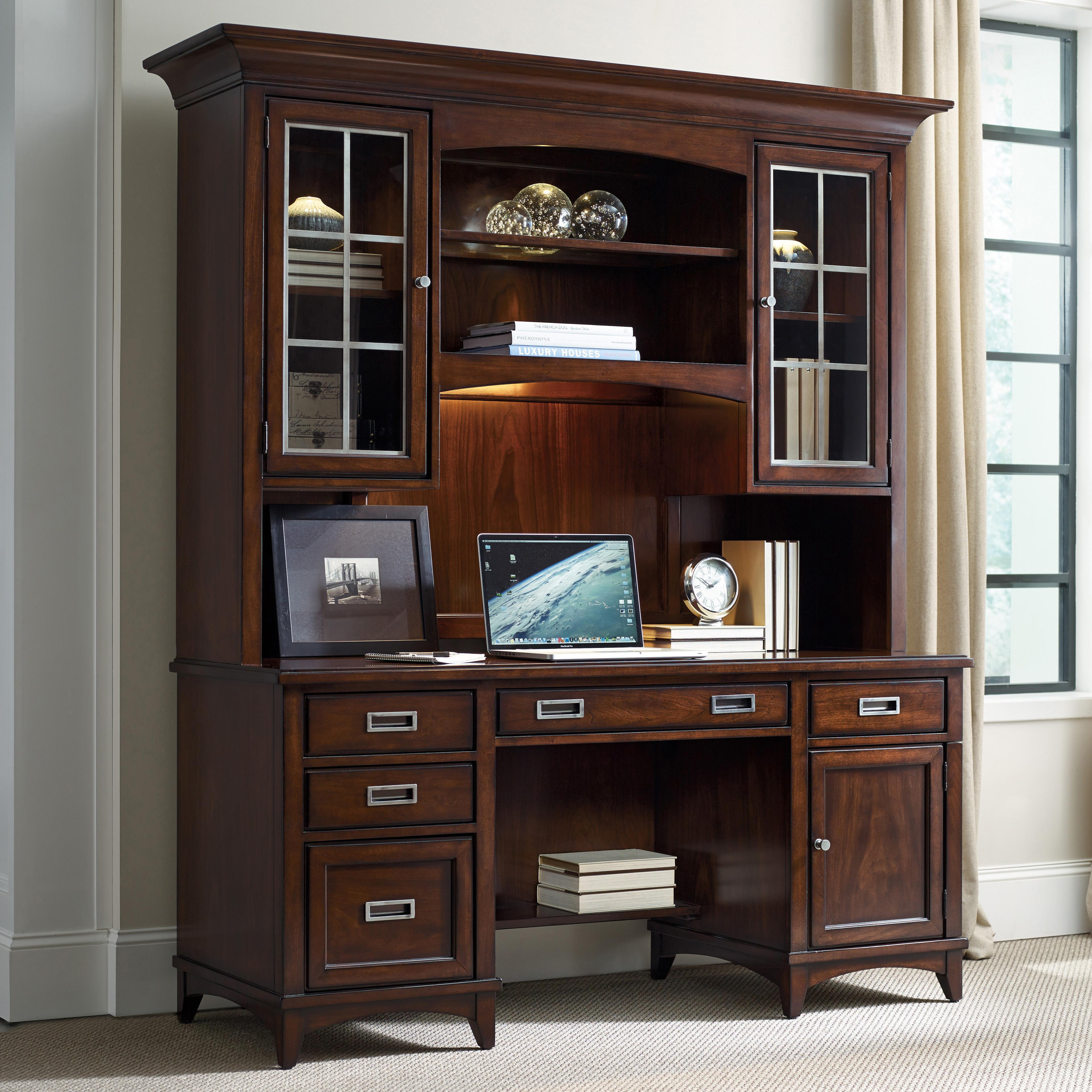 Latitude Credenza and Hutch Set by Hooker Furniture at Stoney Creek Furniture