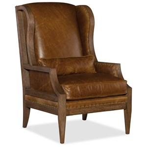 Exposed Wood Club Chair