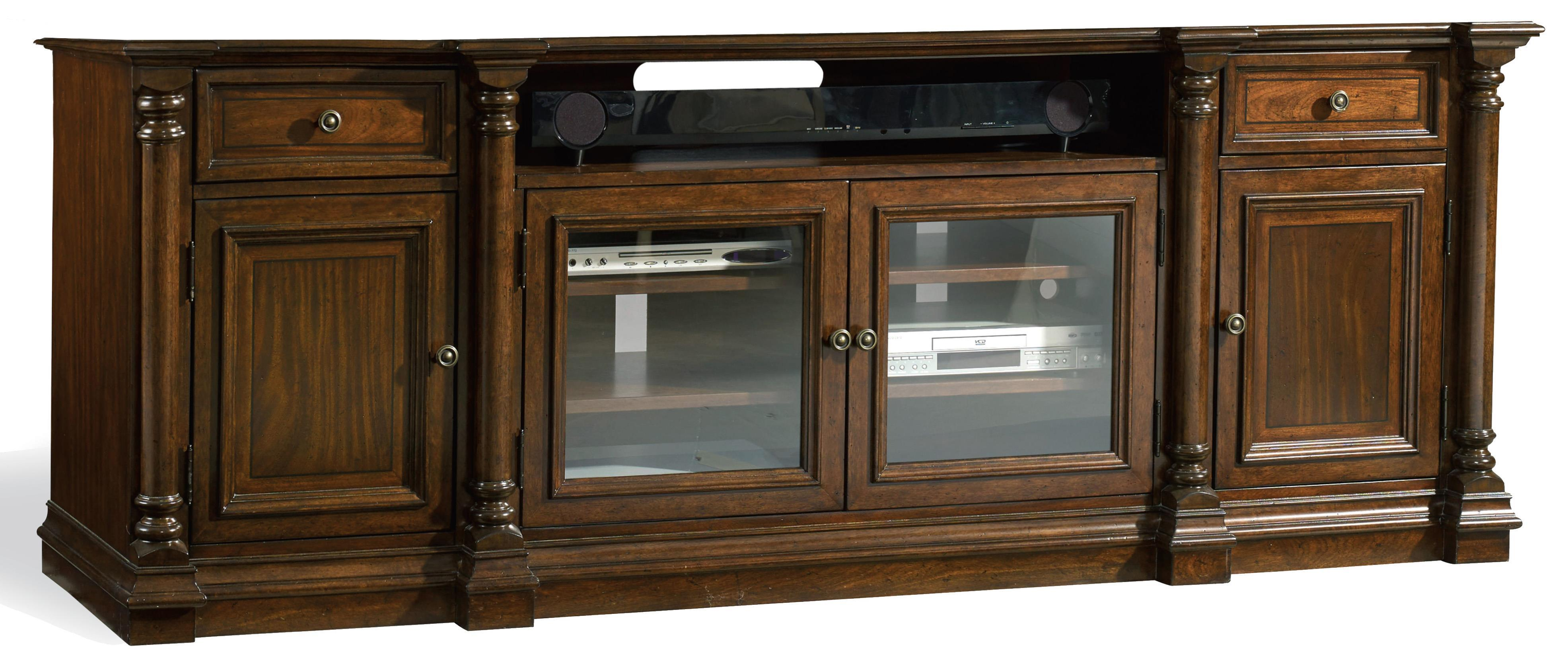 Leesburg Entertainment Console by Hooker Furniture at Stoney Creek Furniture
