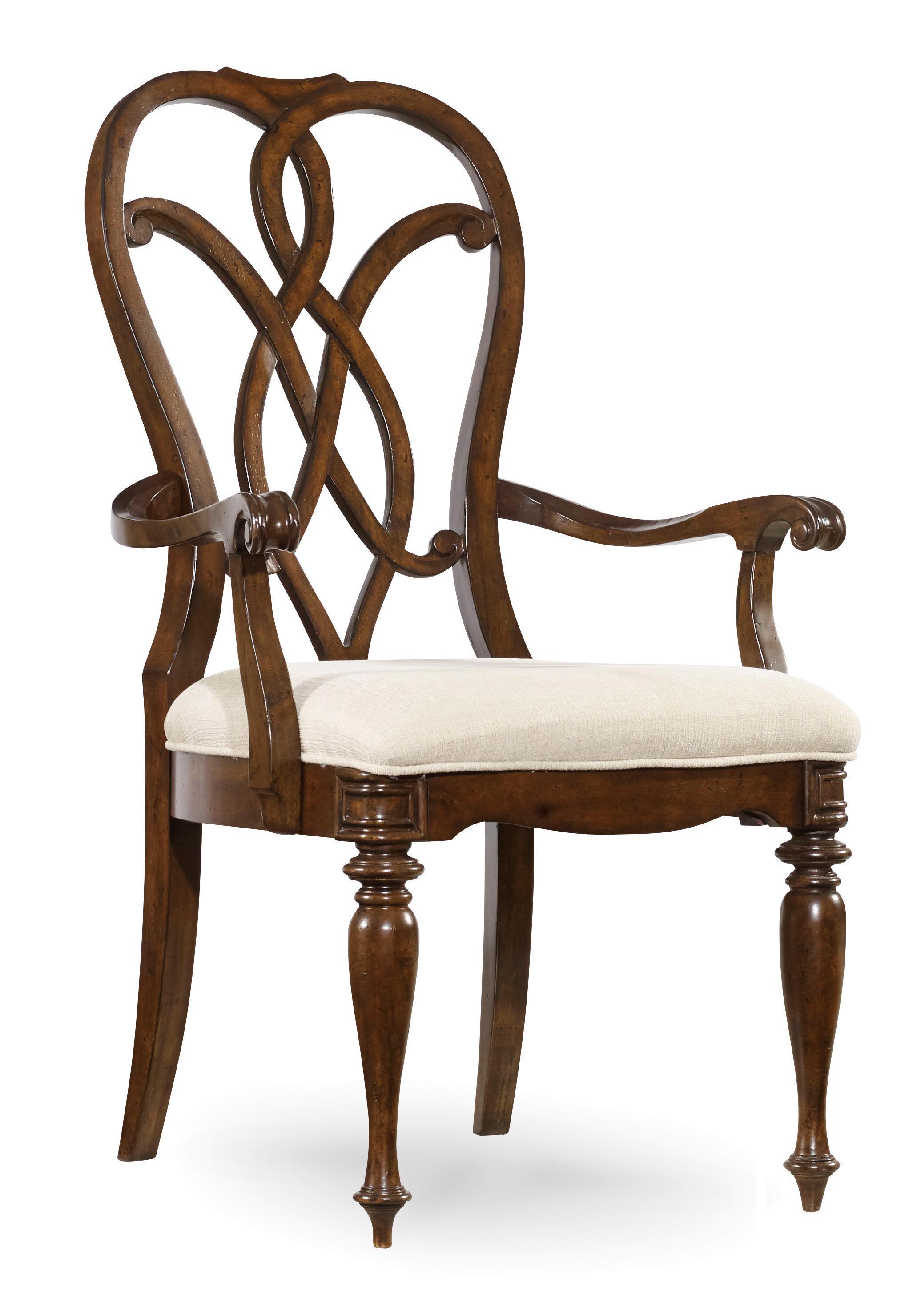 Leesburg Splatback Arm Chair by Hooker Furniture at Alison Craig Home Furnishings