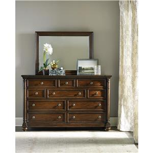 Hooker Furniture Leesburg Dresser and Mirror