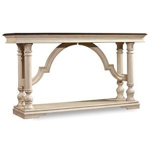 Console Table with Mahogany Veneers and Antique White Finish