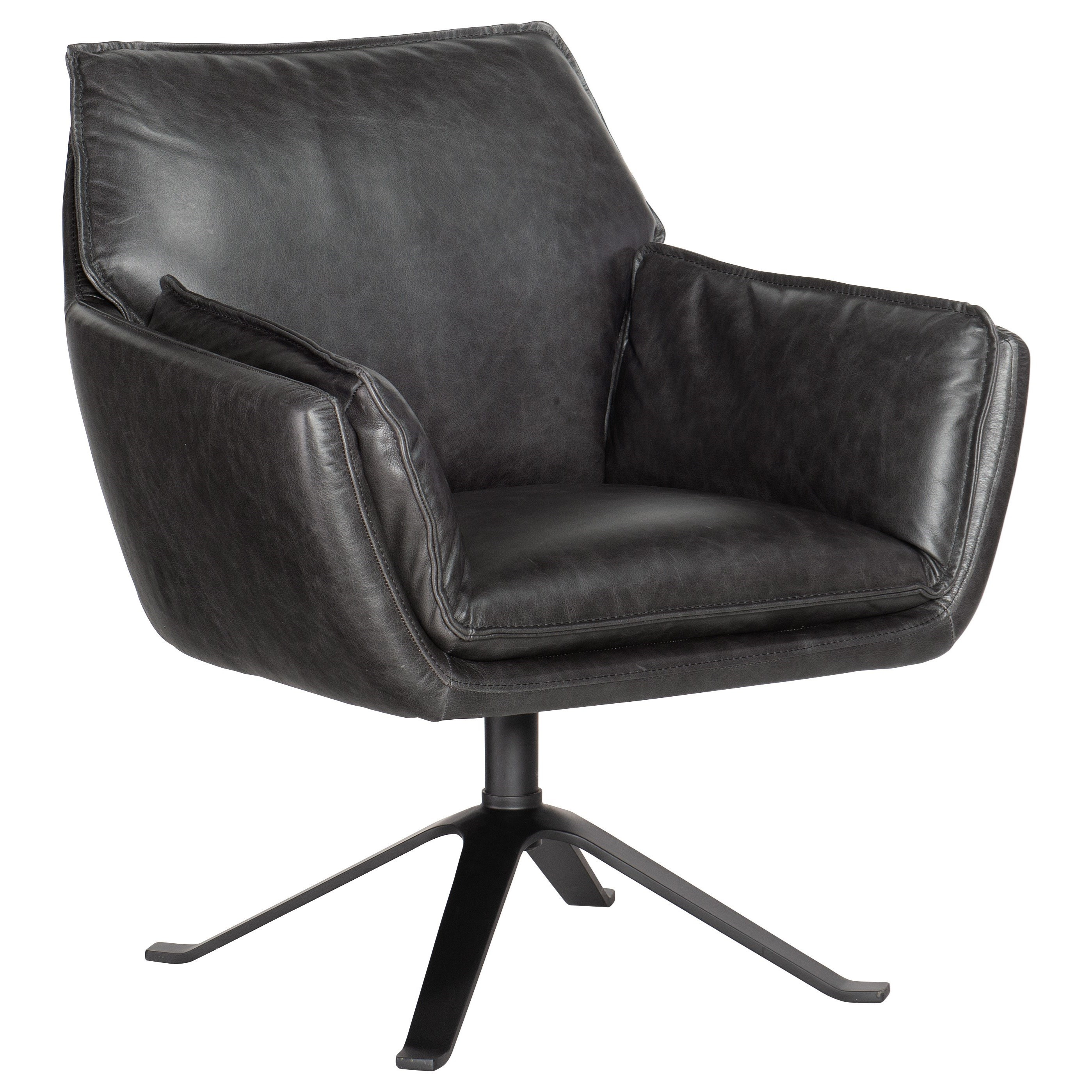 Limber Metal Base Swivel Club Chair by Hooker Furniture at Alison Craig Home Furnishings