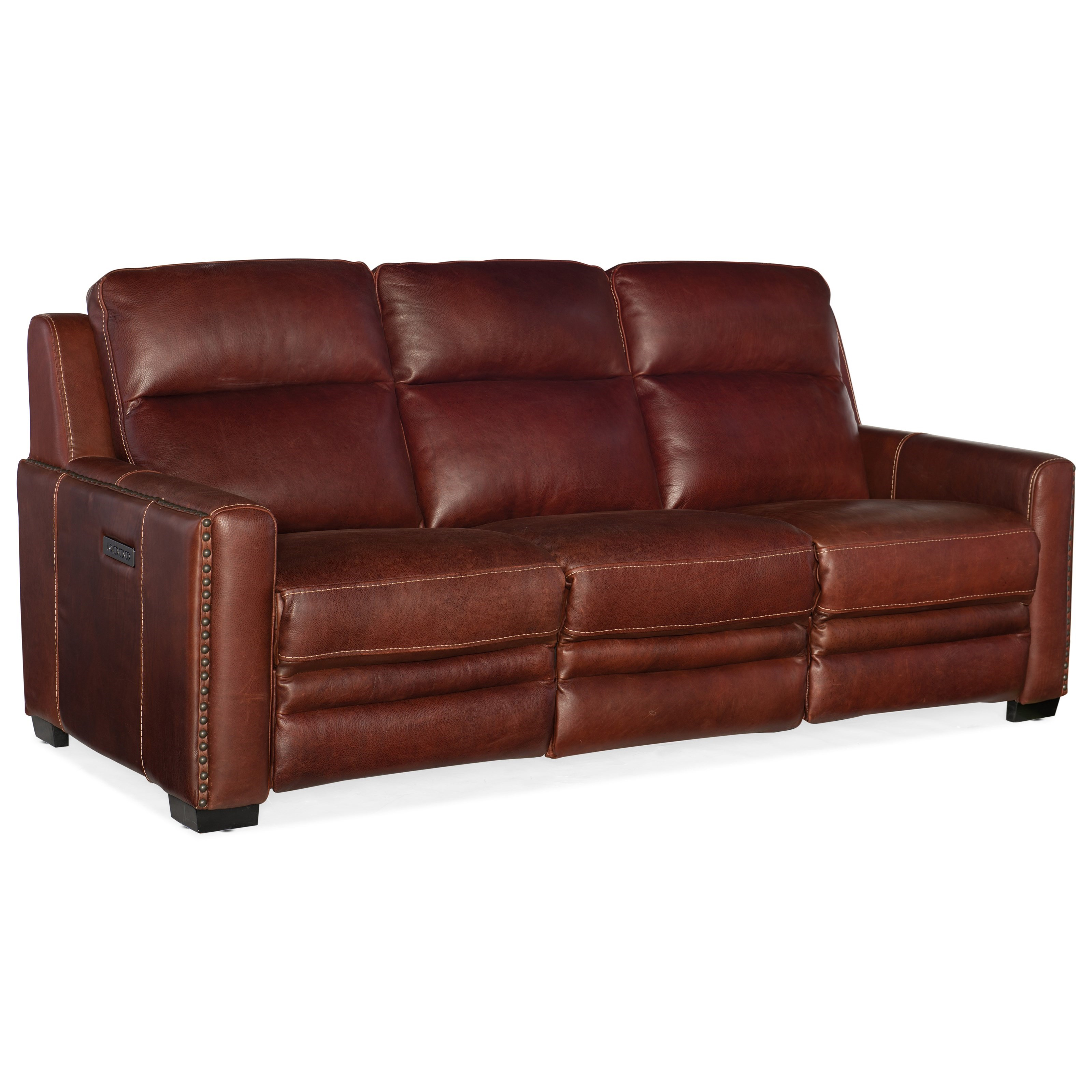 Lincoln Power Motion Sofa with Pwr Headrest & Lumbar by Hooker Furniture at Belfort Furniture