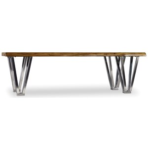 Cocktail Table with Rustic Wood Table Top