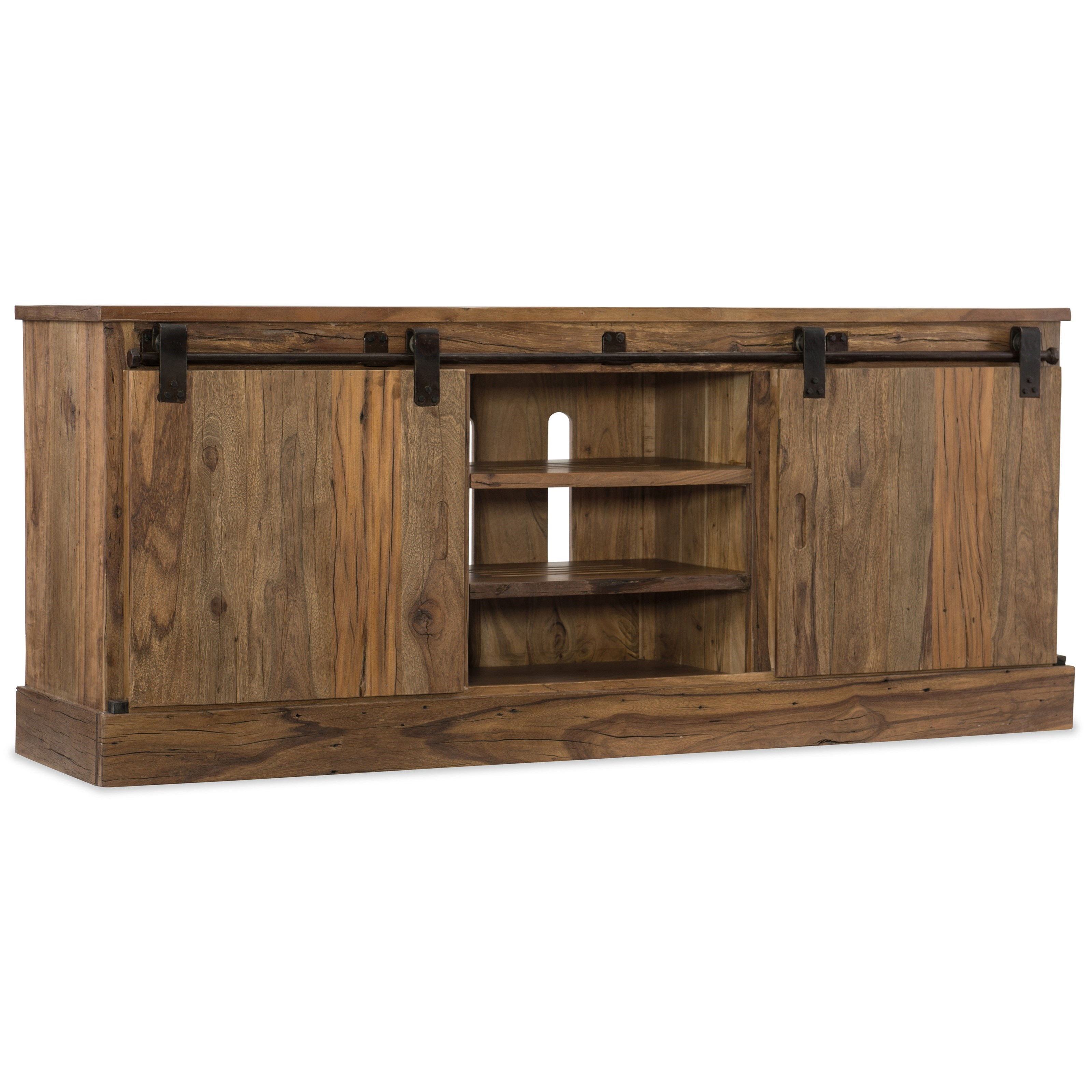 L'Usine Entertainment Console by Hooker Furniture at Baer's Furniture