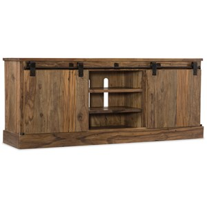 Entertainment Console with Sliding Door