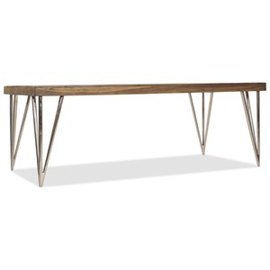 """84"""" Rectangular Dining Table with Reclaimed Wood Top"""