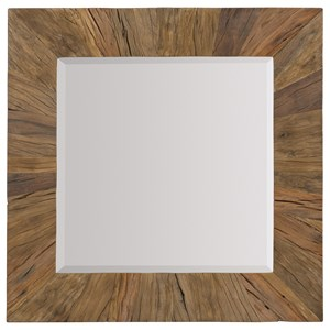 Square Mirror with Reclaimed Wood  Frame