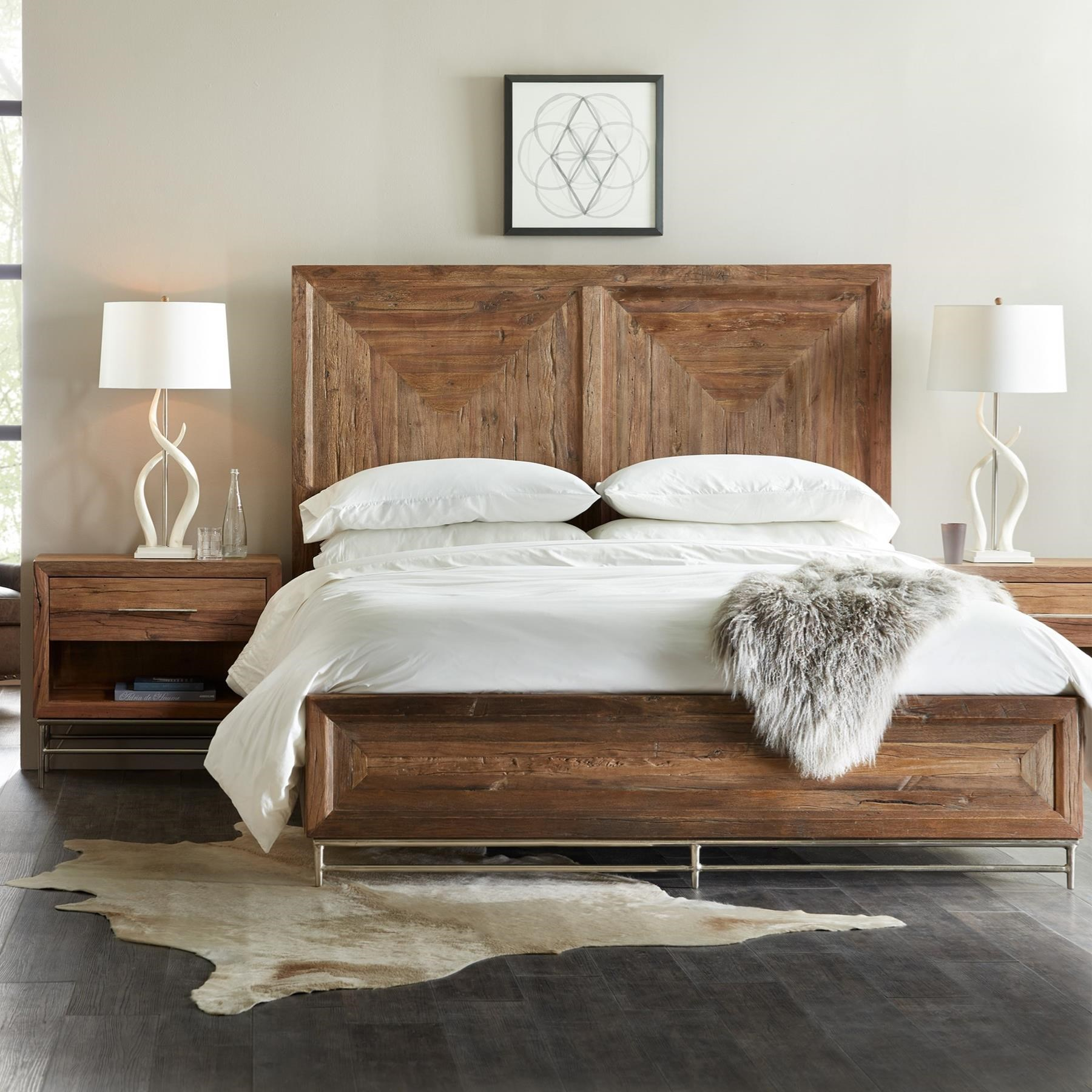 Reclaimed Wood California King Panel Bed