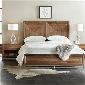 Reclaimed Wood King Panel Bed