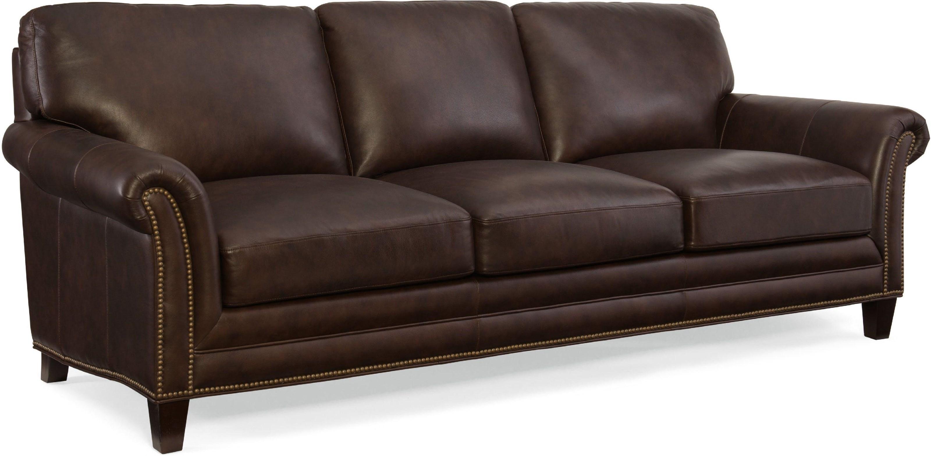 Stationary Sofa with Nailhead Trim