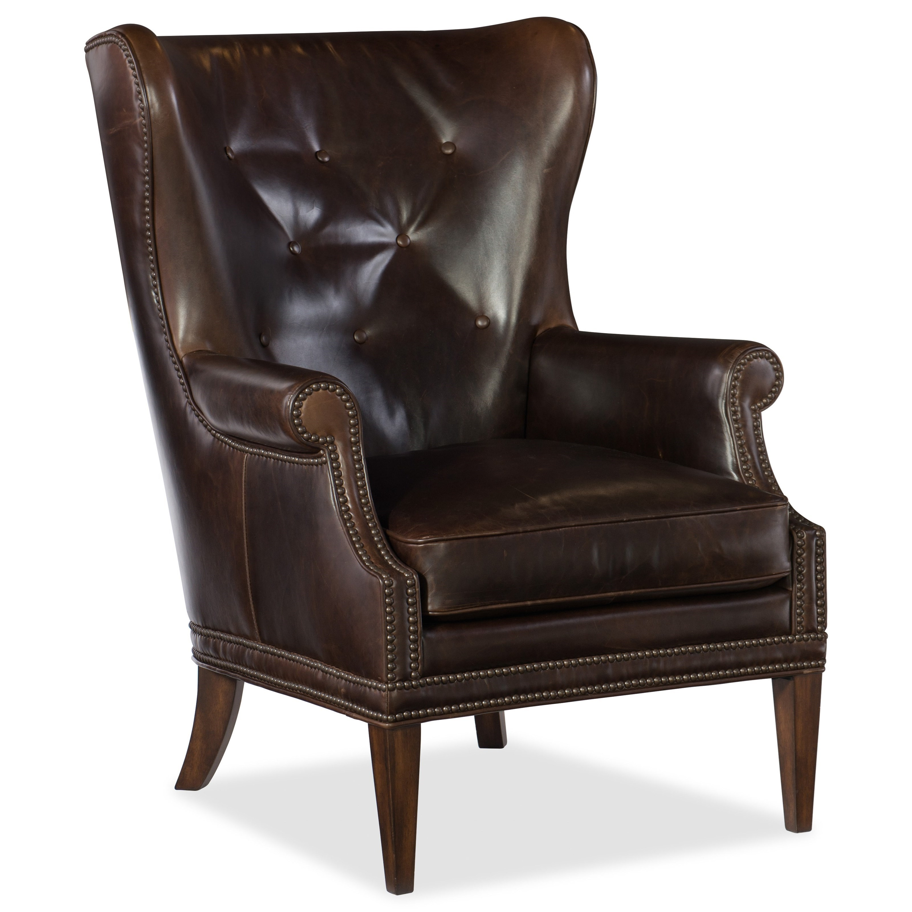 Maya Wing Club Chair by Hooker Furniture at Baer's Furniture