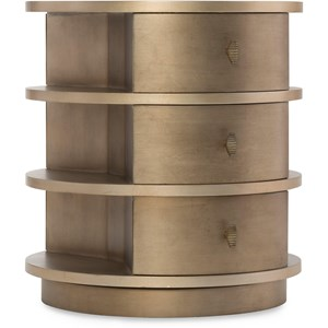 Transitional Rotating End Table