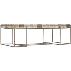 Contemporary Cocktail Table with Rainbow Onyx Top