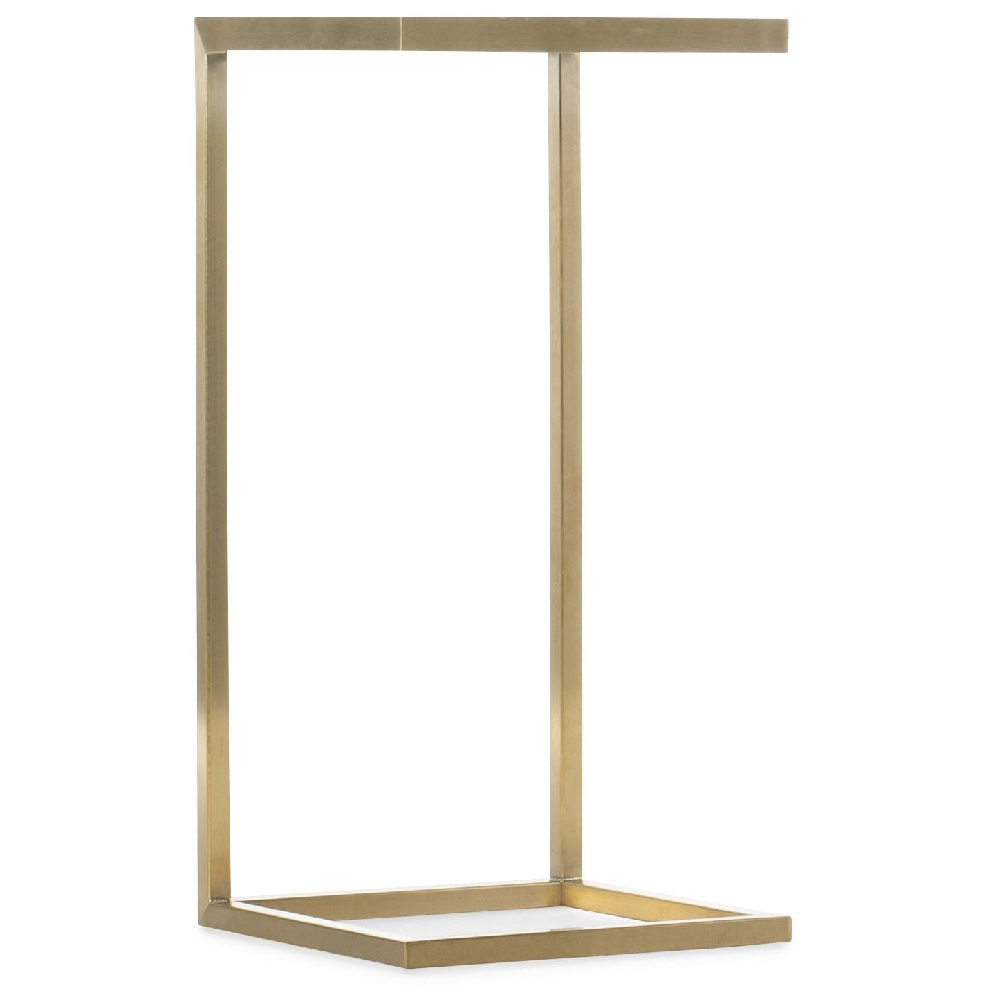 Melange Holmes C-Shaped Accent Table by Hooker Furniture at Baer's Furniture