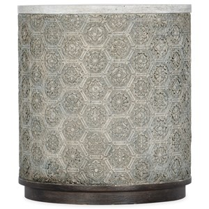 Greystone Transitional Round End Table