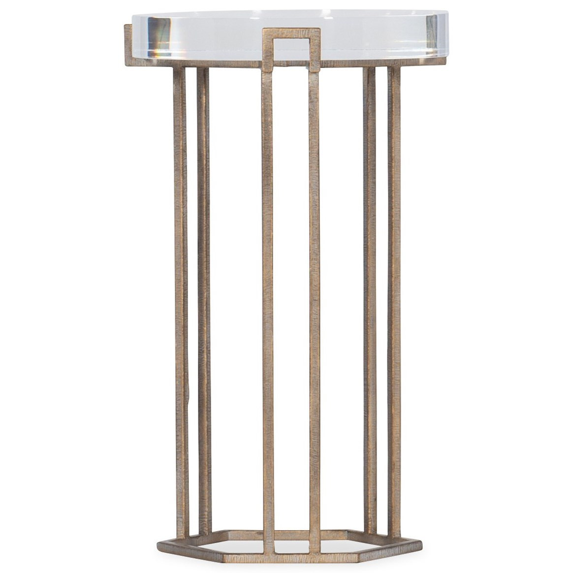 Melange Grove Round End Table by Hooker Furniture at Miller Waldrop Furniture and Decor