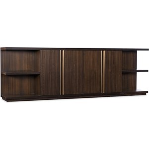 Transitional Console with Brass Accents