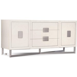 Contemporary 2-Door, 3-Drawer Credenza
