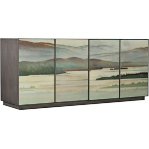 Contemporary Maya Four-Door Credenza