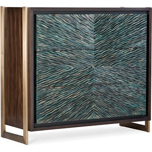 Contemporary Ophelia Three-Drawer Turquoise Chest