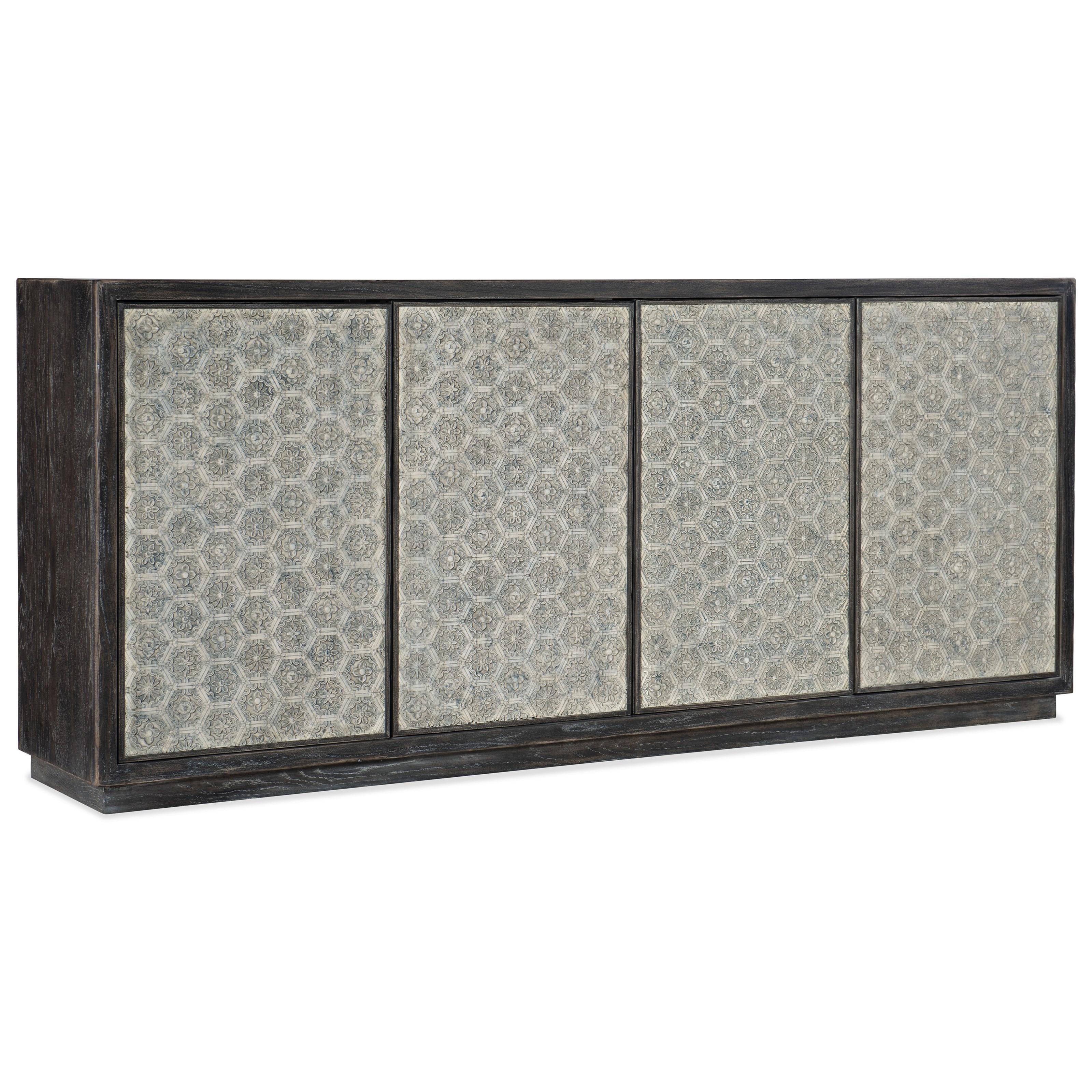 Melange Greystone Four-Door Credenza by Hooker Furniture at Stoney Creek Furniture