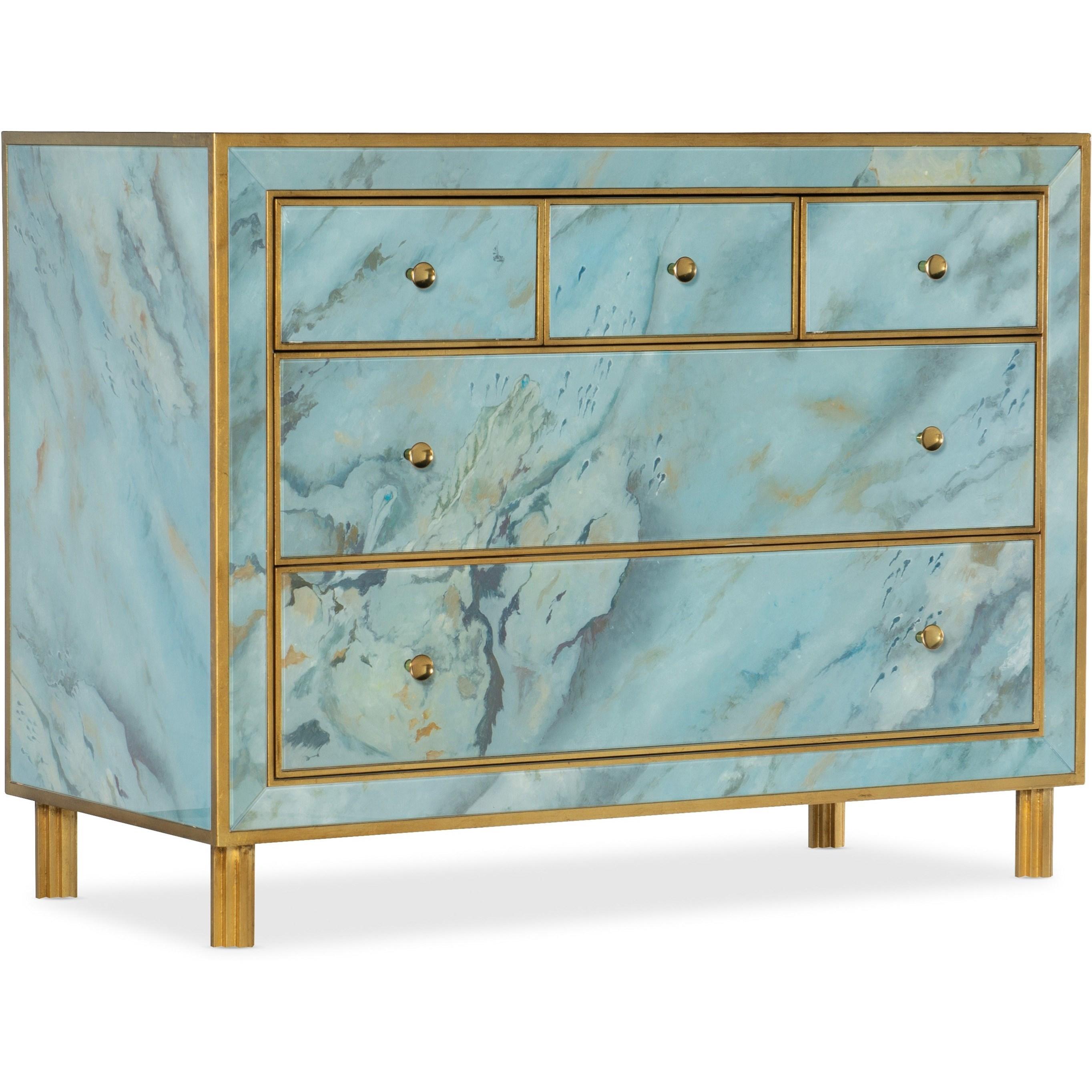 Melange Sorrell Five-Drawer Chest by Hooker Furniture at Suburban Furniture