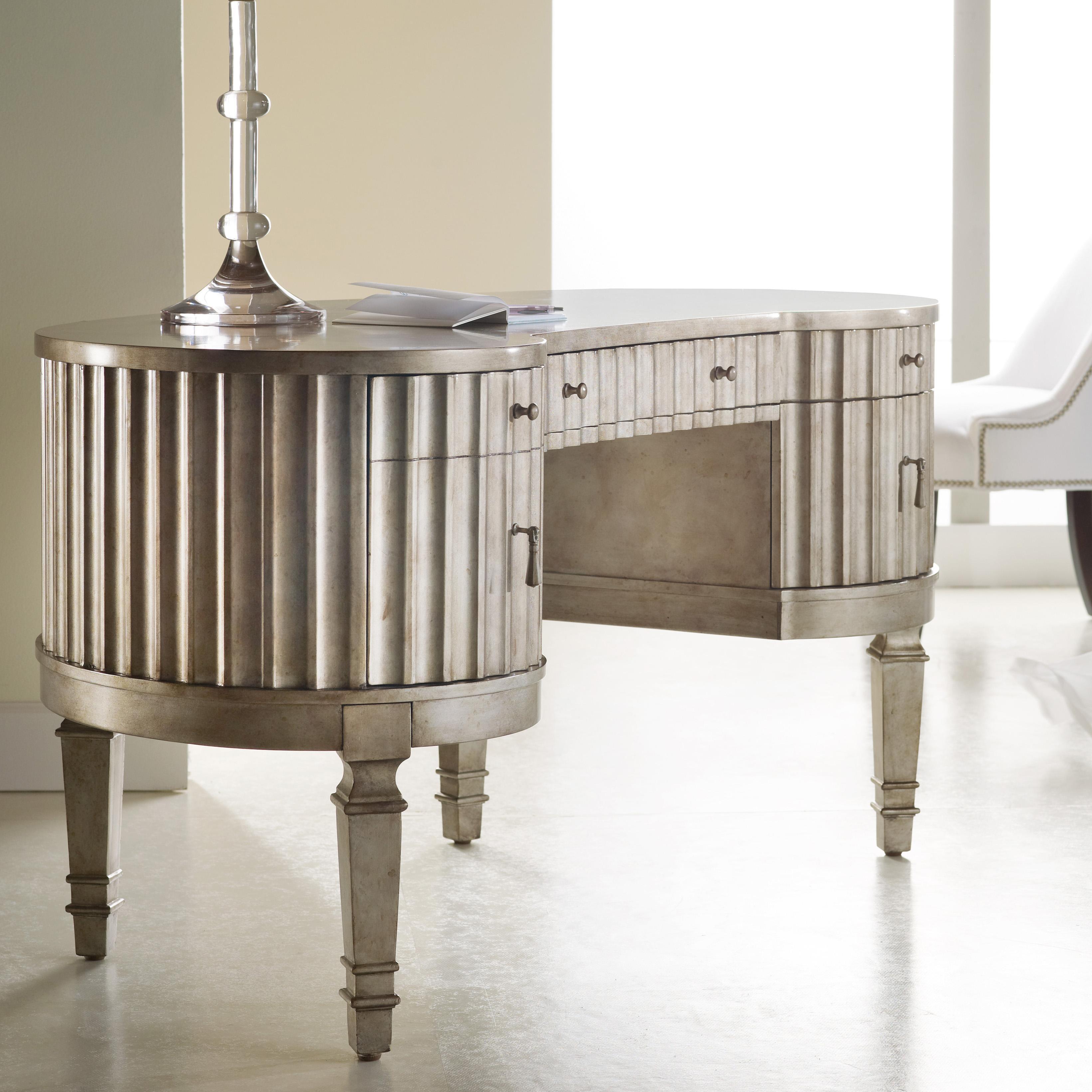 Mélange Fluted Kidney Desk by Hooker Furniture at Stoney Creek Furniture