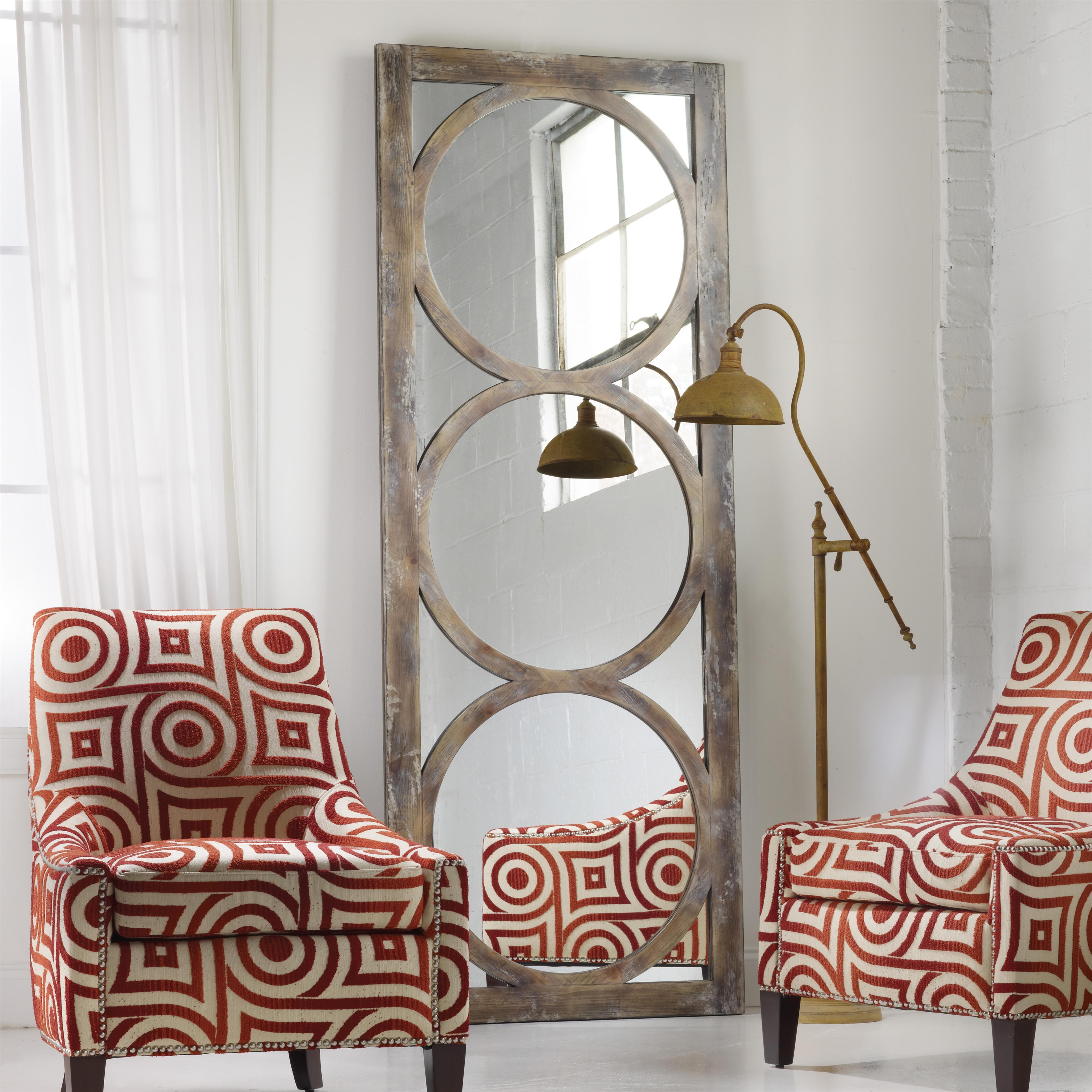 Mélange Encircled Floor Mirror by Hooker Furniture at Miller Waldrop Furniture and Decor