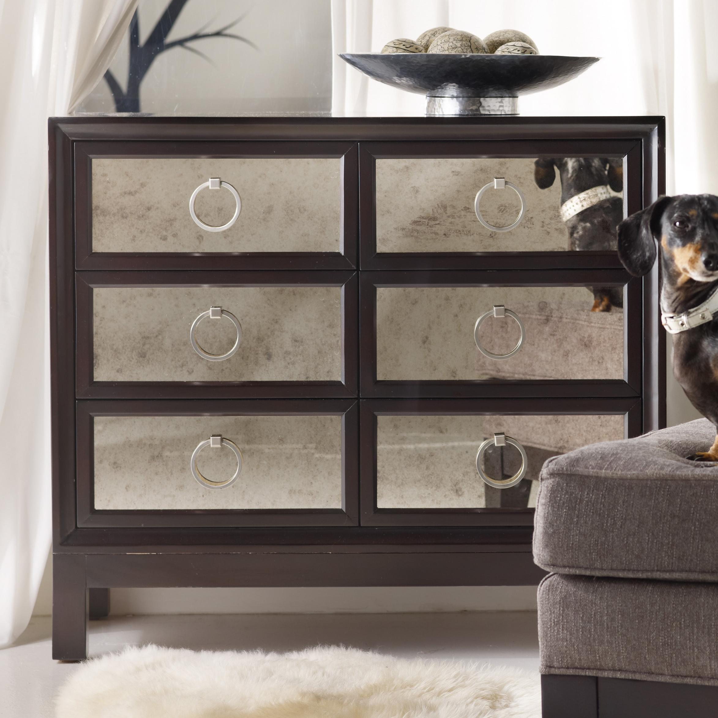 Mélange Six Drawer Mirrored Front Chest by Hooker Furniture at Stoney Creek Furniture