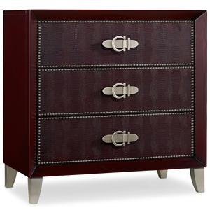 Hooker Furniture Mélange Pompeii Red Croc Chest