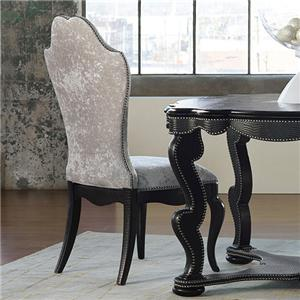 Hooker Furniture Mélange Bohemian Black Croc Side Chair