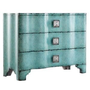 Turquoise Crackle Chest with Rippled Front