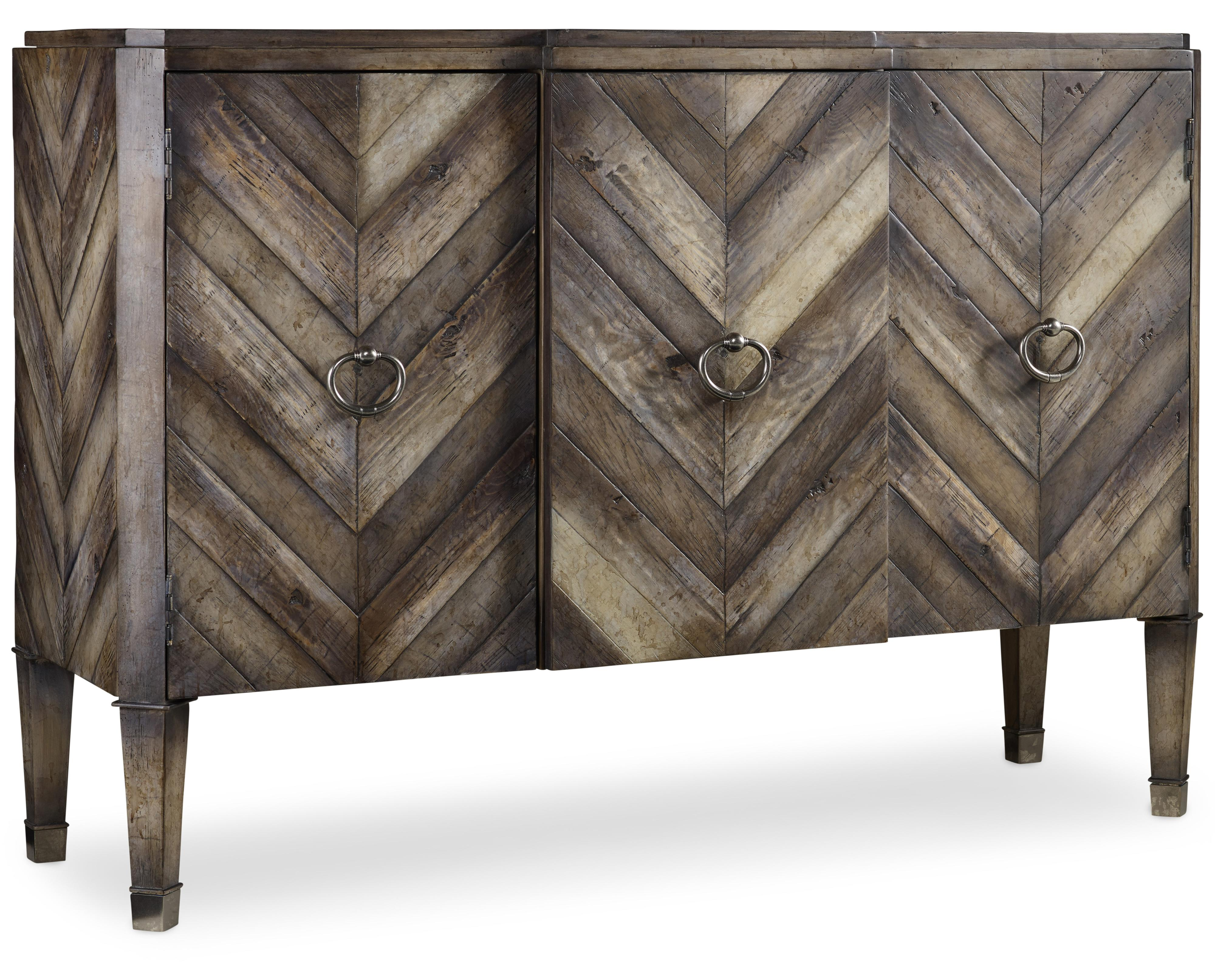 Mélange Chevron Console by Hooker Furniture at Stoney Creek Furniture