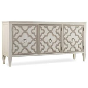 Miranda Credenza with Graphic Wood Overlay
