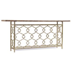 Landon Hall Console with Metal and Silver Leaf