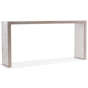 Emma Console Table with Faux Silver Leaf