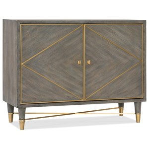 Contemporary Breck Chest with Gold Accents