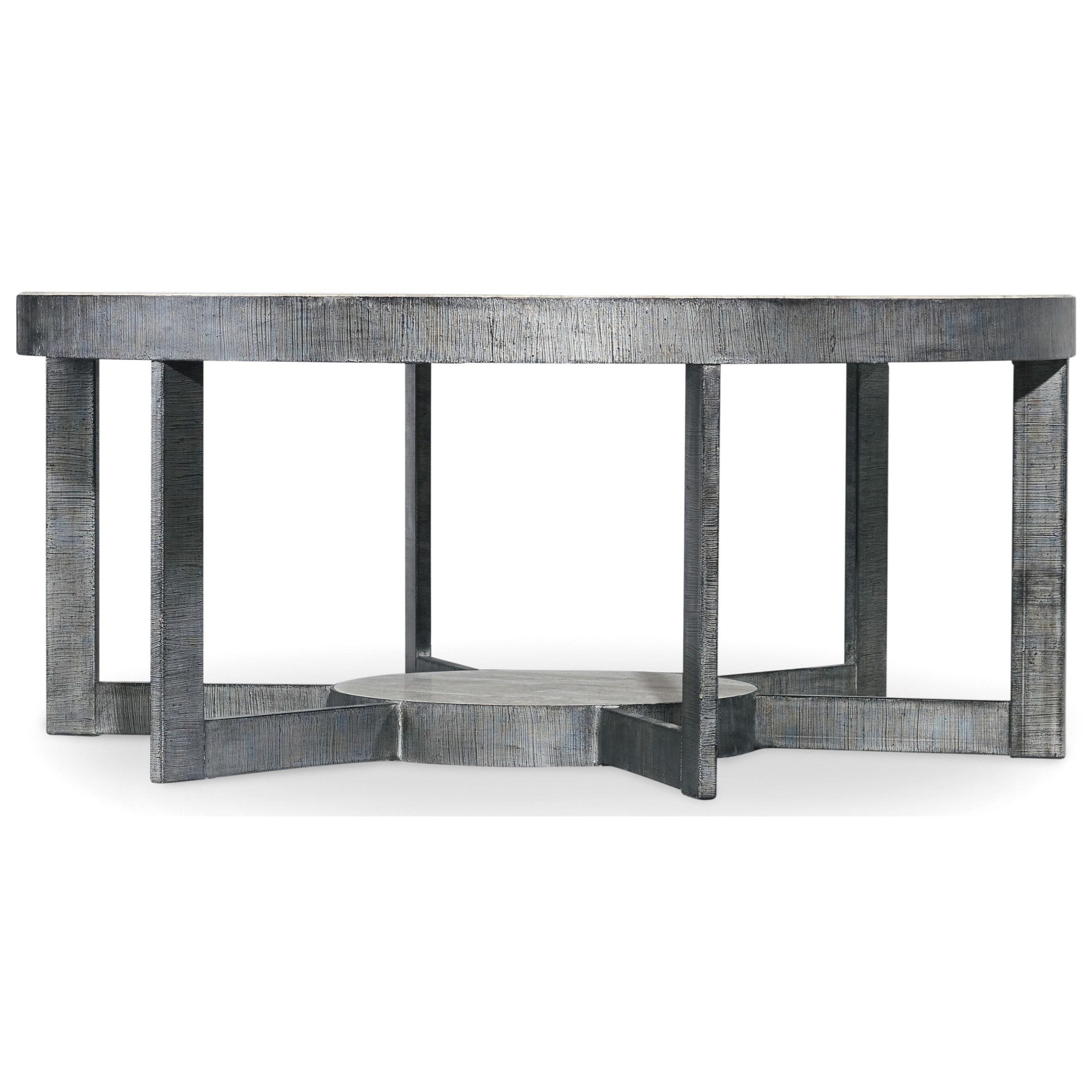 Mill Valley Round Cocktail Table by Hooker Furniture at Miller Waldrop Furniture and Decor