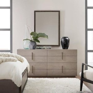 8 Drawer Dresser and Mirror Set