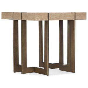Max Square End Table with Metal Legs