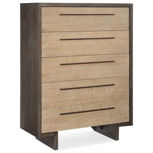 Hermosa Five Drawer Chest with Cedar-Lined Bottom Drawer