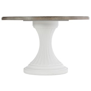 "Transitional 48"" Round Pedestal Dining Table"