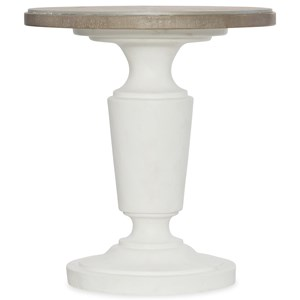 Transitional Round End Table