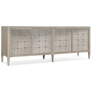 Transitional Four-Door Console with Adjustable Shelves